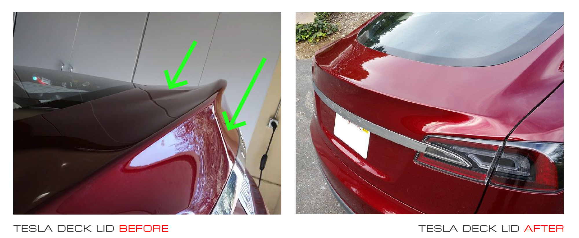 Tesla before and after